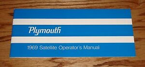 1969 Plymouth Satellite Owners Operators Manual 69 GTX Road Runner