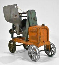 Antique Vintage Kenton Jaeger Cast Iron Concrete Cement Mixer Toy