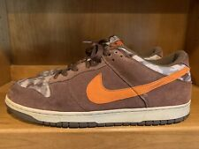 Vintage Nike Dunk Low 2006,307696 381, classic olive/deep orange/light chocolate