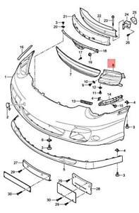 Genuine PORSCHE 911 Turbo Gt2 Retaining Frame Left Satin black 9975055630101C