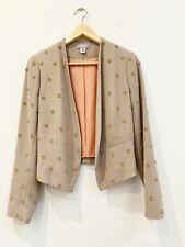 Designer Hoss Size 38 8 to 10 AU Tan Embellished Amazing Womens Jacket