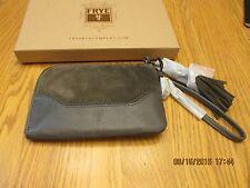 NWT - FRYE Paige Leather/ Suede Wristlet - SMOKE -