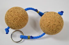 2x Cork Wooden Ball Keyring Floating Yacht Sailing Marine Canal Boat Float Keys