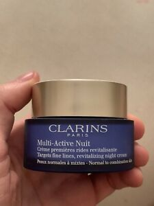 Clarins Multi Active Nuit Revitalizing Night Cream 1.6 oz 50ml 80% Remaining