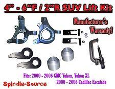 """00-06 GMC Yukon 1500 XL 1500 Escalade 4-6"""" / 2"""" Lift Kit Spindles Keys TOOL Ext"""