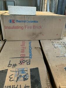 "K-20 Insulating Firebrick 9x4.5x 1.75"" Straight Fire Bricks. 25 Per box."