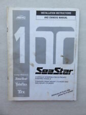 1995 Seastar Teleflex Installation Instructions and Owners Manual ABYC 1