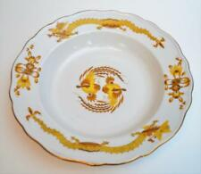 "Antique MEISSEN Germany Crossed Sword Mark Yellow DRAGON 12"" Round Platter"