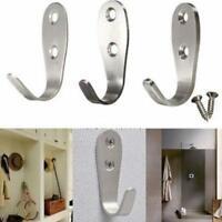 Stainless Steel Door Hooks for Clothes Coat Robe Hanger Double Hooks MP