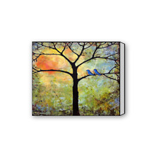 Custom Artprint on Canvas Abstract Colorful Tree of Life Canvas Print 16x20 Inch