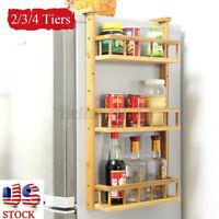 3 Tiers Refrigerator Side Rack Kitchen Fridge Shelf Storage Heavy Duty Organizer