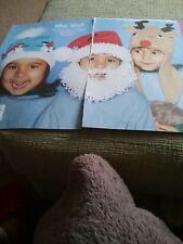 Who's Who set of three fun children's hats knitting pattern