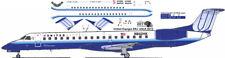 United Express OC Embraer ERJ 145 1/144 airliner decals for welsh kit
