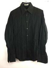 J Lindeberg Stockholm Medium Men's Casual Button Front Shirt Black