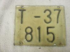 SPAIN TARRAGONA LAMBRETTA VESPA MOPED MOTORCYCLE 1970s # T-37 815 LICENSE PLATE