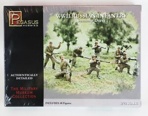 WWII RUSSIAN INFANTRY Summer Dress Scale 1/72 Military Pegasus Hobbies 7268