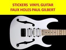 FAUX HOLES BLACK PAUL GILBERT IBANEZ VISIT OUR STORE GUITAR STICKERS CUSTOM