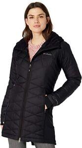 Nwt $140 Columbia Black Omni Heat Thermal Heavenly Long Hybrid Coat Jacket L Lg