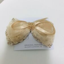 Accessories Girl's Fashion Hair Clips Bowknot champagne color