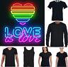 Lgbt Camiseta Amor Es Divertido Orgullo Gay Lesbiana Top Neón Arcoiris Colores