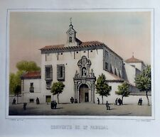 MADRID, CONVENTO  DE SAN PASCUAL.  Litografía original de Donon, mediadoss. XIX.