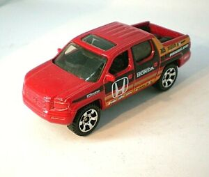Matchbox 2007 Honda Ridgeline pickup red w blk & orange markings mint condition