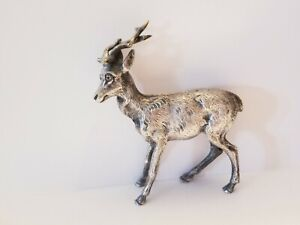 CARTIER ANIMAL KINGDOM 225g STERLING STAG DEER FIGURINE-STATUE SILVER ANIMALIER