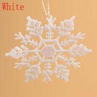 12Pcs/Set Glitter Snowflake Christmas Ornaments Xmas Tree Hanging Decorations