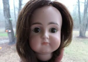 ANTIQUE!  LOVELY CLOSED MOUTH Mystery KESTNER? FRENCH MARKET BISQUE DOLL HEAD