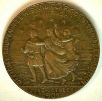 1905 Lewis and Clark Exposition Centennial Bronze Medal So Called Dollar K1