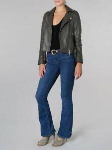 MUUBAA Manning Granite Grey Biker Jacket Style M0941R Size UK 14 EU 42