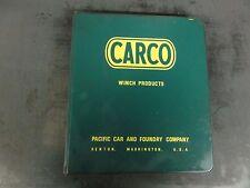 Carco Models UH-260 Line Sagger Operator's, Service, & Parts Manual