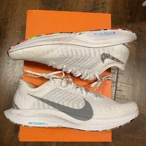 Nike Zoom Pegasus Turbo 2 AW Running Shoes White Grey BV7765-100 Men's Size 9.5