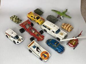 vintage toy cars bundle -tanks , Batman, Corgi