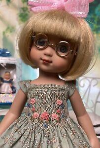 "10"" Doll Boneka Print lite Green Smocked Dress 24cm Tonner Ann Estelle Patsy"