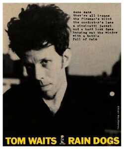 Tom Waits POSTER Rain Dogs **VERY LARGE** Promo Ad Keith Richards Marc Ribot
