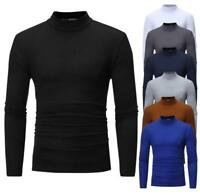 Fashion Mens Solid Color T-Shirts Shirt Pullover Long Sleeve Jumper Casual Tops
