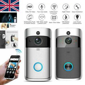 Smart WiFi Wireless Video Doorbell Two-Way Talk Door Bell Security Camera HD UK