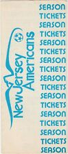 1977 New Jersey Americans American Soccer League Season Ticket Brochure