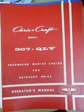 Chris Craft Thermocon Marine Operators Manual Model 307 QLV