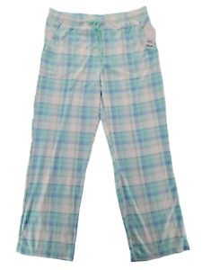 Croft Barrow Women's Whisperluxe Plaid Pajama Pants Size L