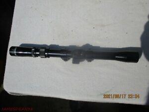 TASCO 3-7 X 20mm .22 Rimfire Rifle or Air Gun Black Scope with Rings DUPLEX CROS