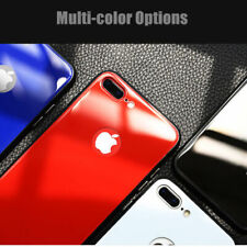 For iPhone XS 8 7 Plus Tempered Glass Bumper Scratch-Resistant Full Cover Case