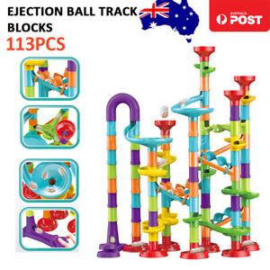 113Pcs Elevator Marble Run Race Learning Toy Games Block Set DIY Super Fun Gift