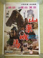 BANDITS OF SHANTUNG   original Chinese film poster 1972  martial arts