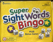 Learning Resources Super Sight Words Game Ages 6+ Homeschool Used Good