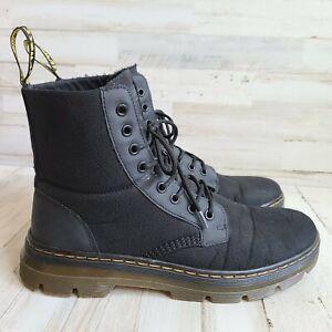 Dr. Martens Men's Combs Nylon Combat Boot Black 12 Ladies / 11 Mens