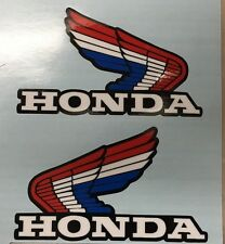 VINTAGE LARGE Honda wings Red/Blue CR MR  atc70  XL XR  SL FUEL TANK  stickers