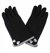 Womens Touchscreen Gloves Black Navy Grey