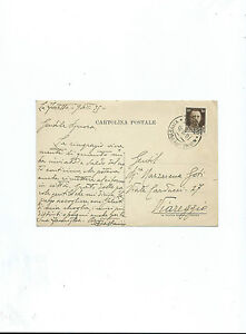 Augusto Bastianini Pittore Macchiaioli - Cartolina Postale Autografo 1920